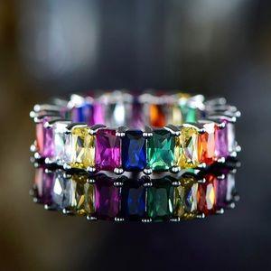 Multi-Colored Quartz Ring